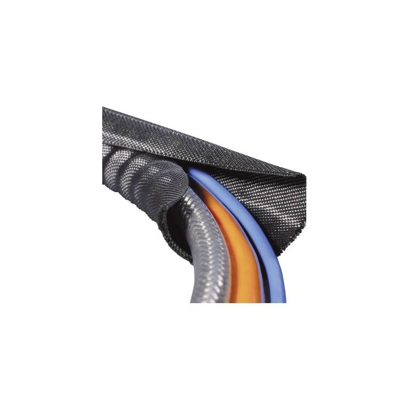 HellermannTyton 170-01005 Twist-In 25 Guaina intrecciata Nero Poliestere 19 fino a 25 mm Merce a metro