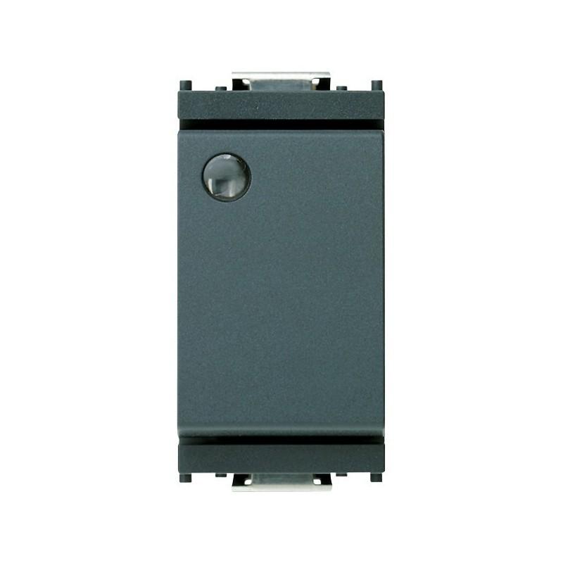 Deviatore 1P 16 AX 250 V~, luminoso, per unità di segnalazione, grigio. Fornito senza unità di segnalazione.