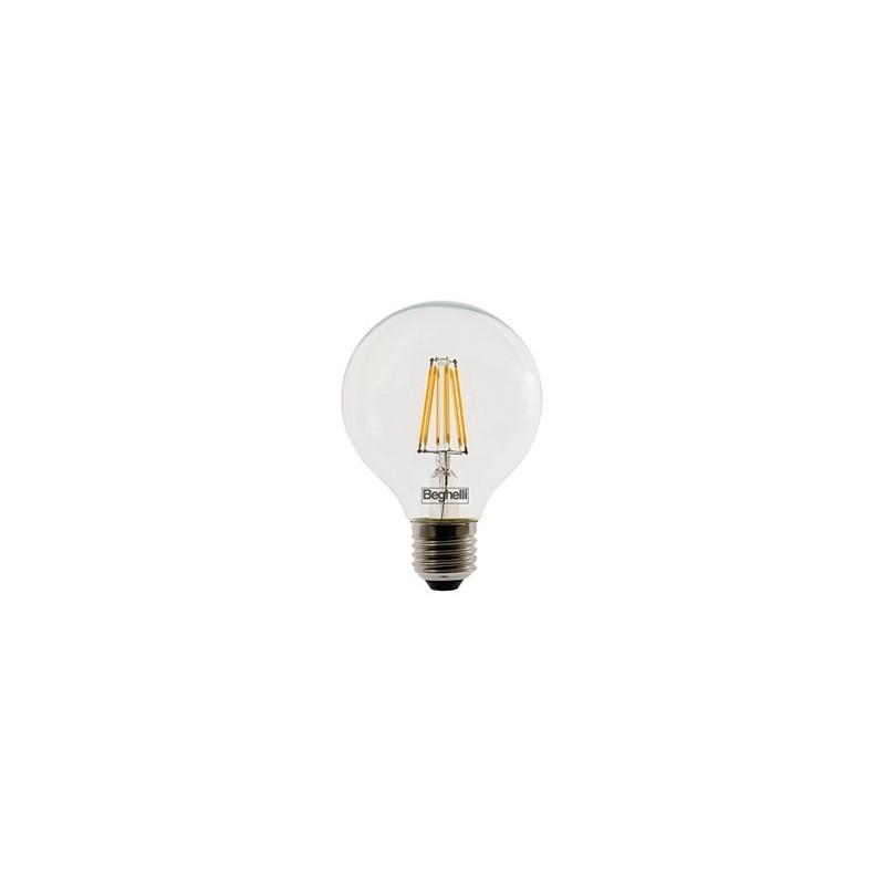 Lampadine al Led Beghelli Globo Zafiro 10 Watt Attacco E27 Luce Calda 2700K Prezzo Vendita Online.