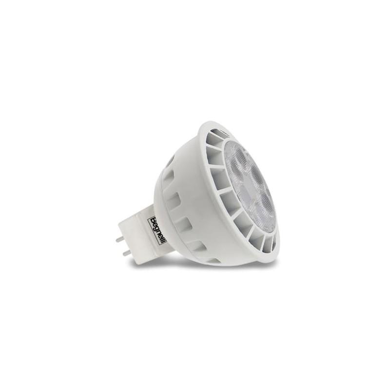 Lampadine Led Beghelli Riflettore 8 Watt Attacco GU5,3 Luce Calda 3000K.