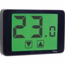 Termostato Touch da Parete o Incasso aCorrente Elettrica 230V Thalos Nero