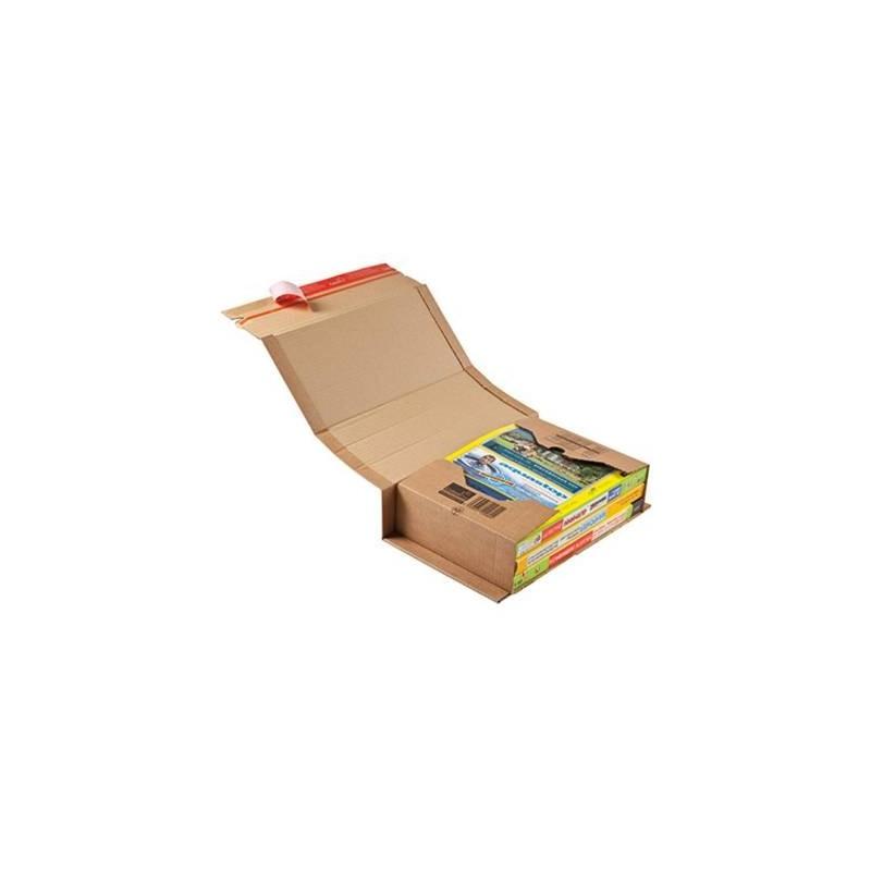 af19d97c3a Scatola Di Cartone Per Spedizioni ColompacΛ Universale 32,5 X 8 X 25 Cm (L  X A X P) Cartone Ondulato Robusto Marrone
