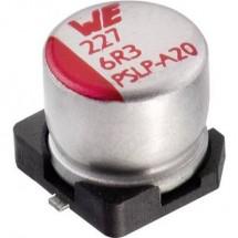Condensatore elettrolitico Würth Elektronik WCAP-PSLP 875105144008 220 µF 6.3 V 20 % (Ø x A) 6.3 mm x 5.8 mm 1 pz. SMD