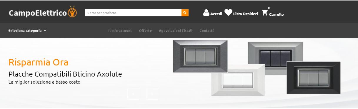 campoelettrico.it outlet materiale elettrico online prezzi offerte