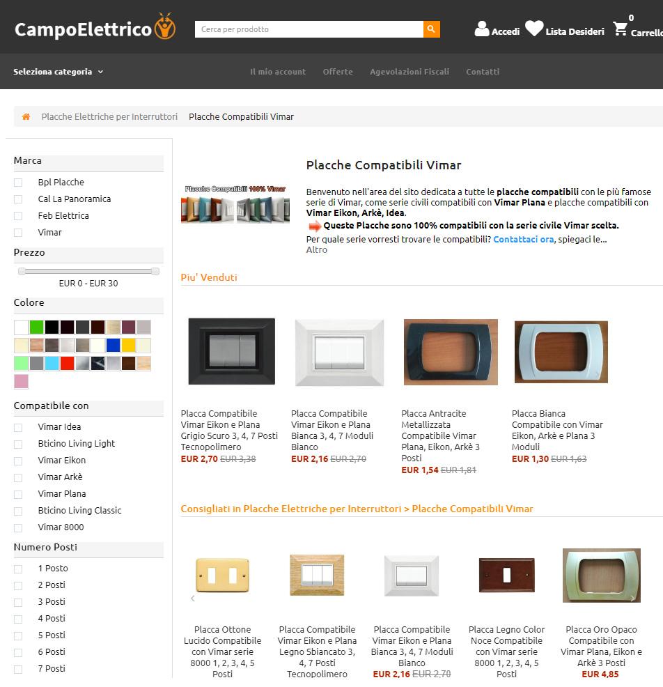 vendita e rivendita materiale elettrico, forniture, prodotti, distributori online comprare e acquistare