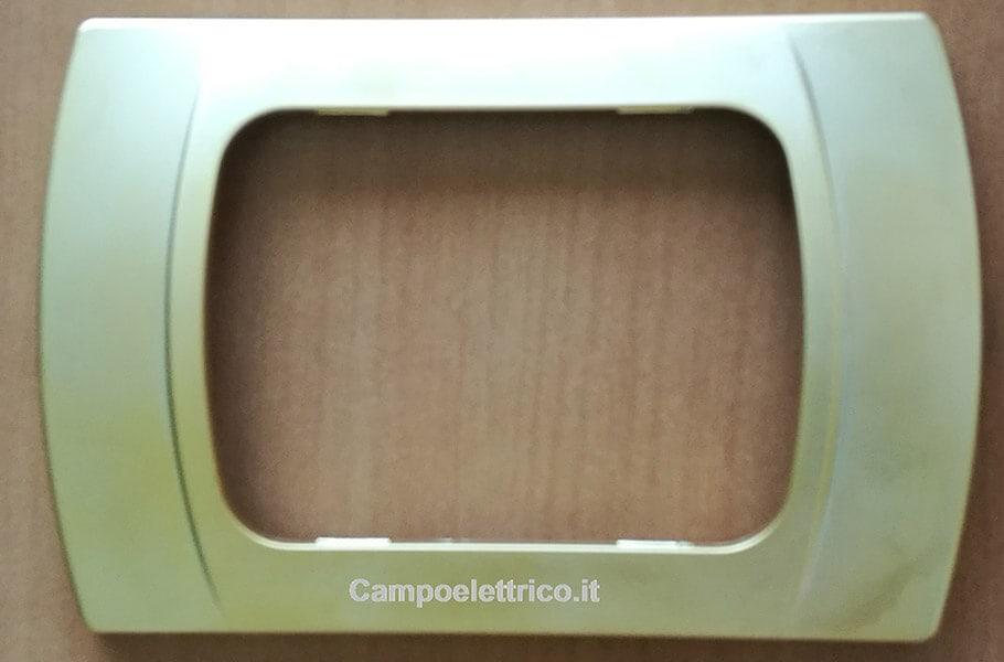 placchette compatibili con vimar plana, eikon, arkè, 3 moduli