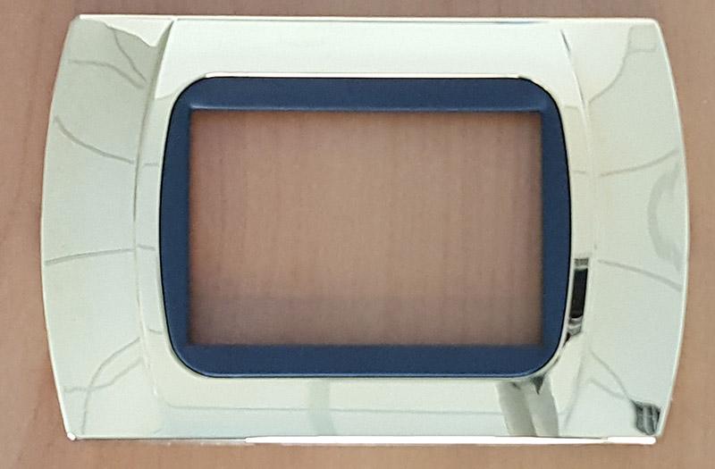placchette compatibili con vimar eikon, plana, arkè 3 posti anello bianco