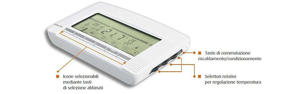 Manuale termostato bticino living l4448 great tecnoswitch for Termostato living bticino