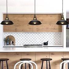 cucina illuminazione industrial retrò e vintage