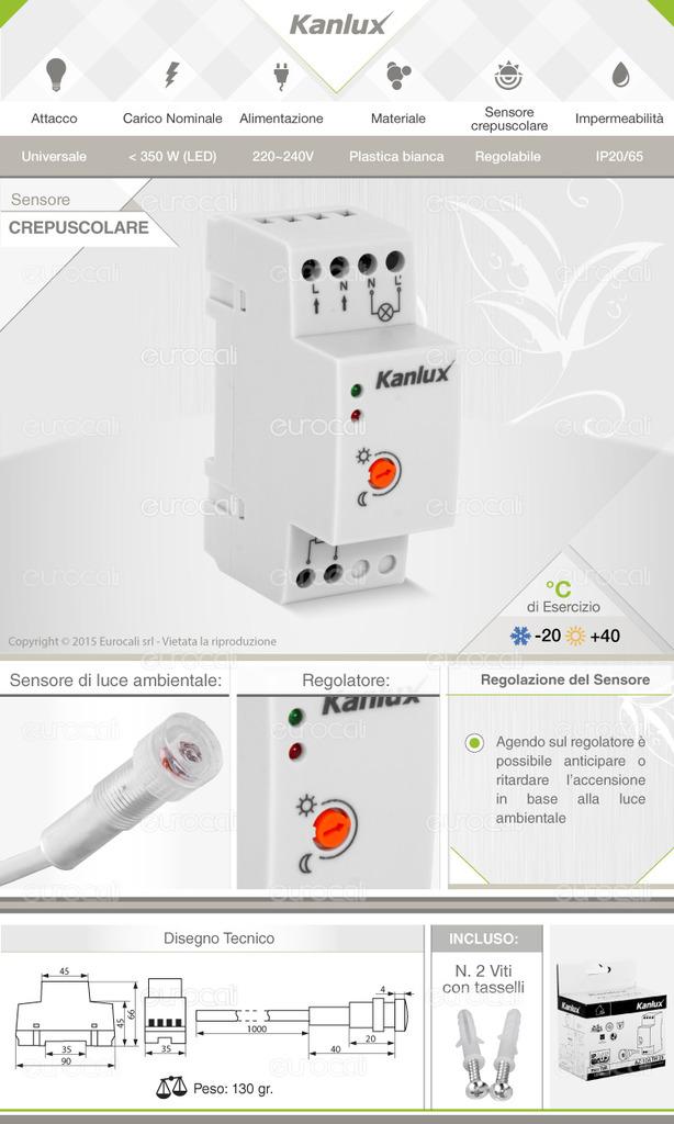 sensore crepuscolare lampadine