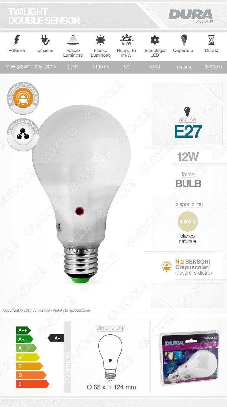 scheda lampadina crepuscolare duralamp