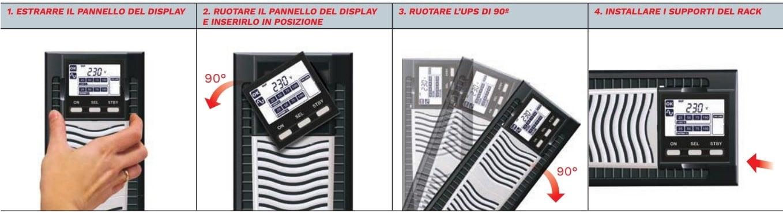 installazione su armadi e server rack ups sdu Riello gruppo continuità