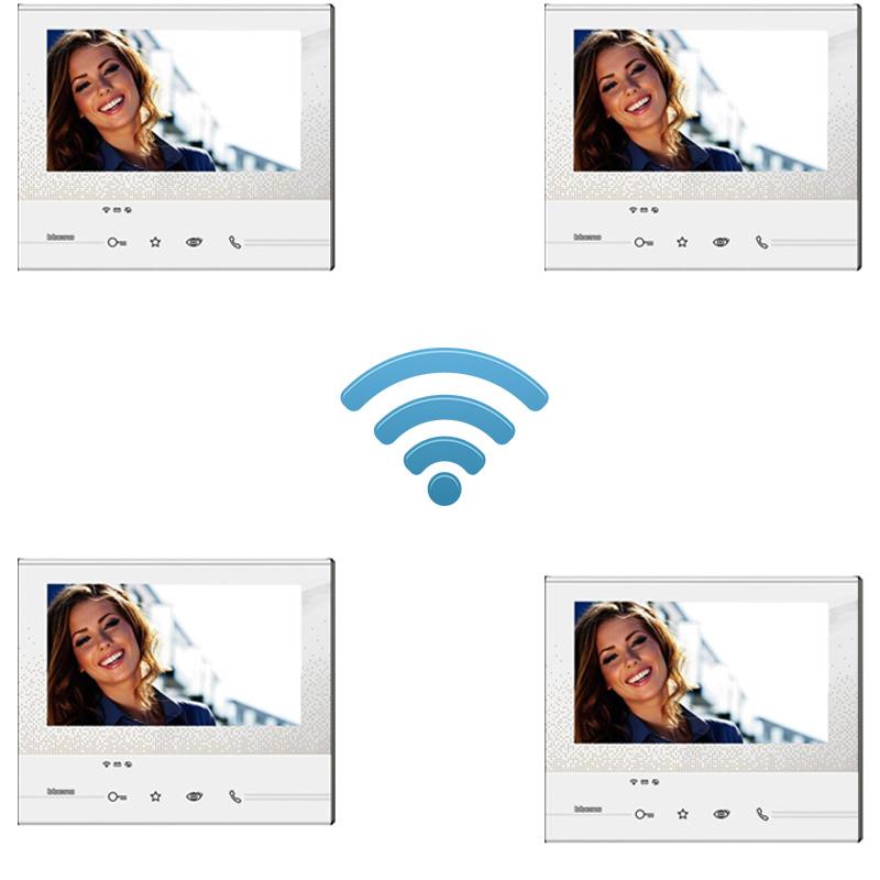 kit quadrifamiliare wi-fi wireless senza fili bticino 4 appartamenti