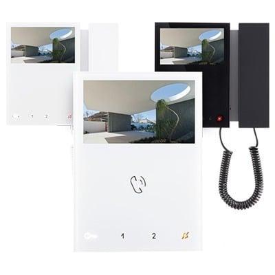 videocitofonia comelit 2 fili e 5 fili, kit completi di videocitofono pulsantiera esterna e alimentatore