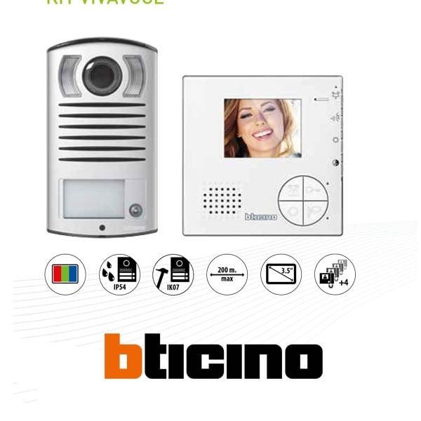 bticino 365511 kit videocitofono monofamiliare