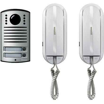 Bticino 366821 kit citofono digitale bifamiliare 2 fili for Costo videocitofono