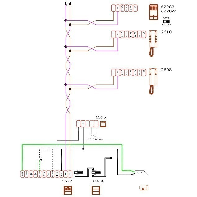 comelit 2608 schema