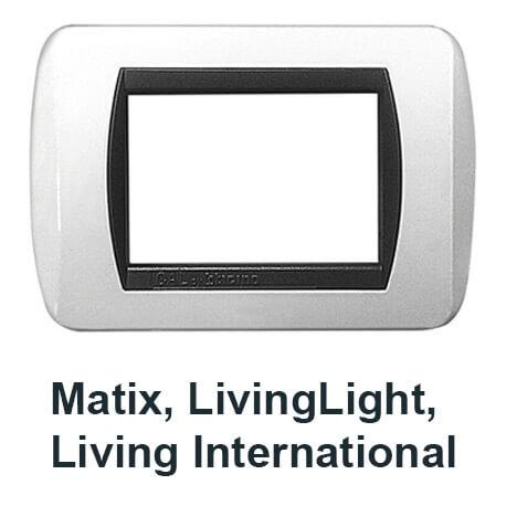 placchette compatibili con serie bticino livinglight, living air, matix e international, migliori offerte e promozioni sul web per vendita online