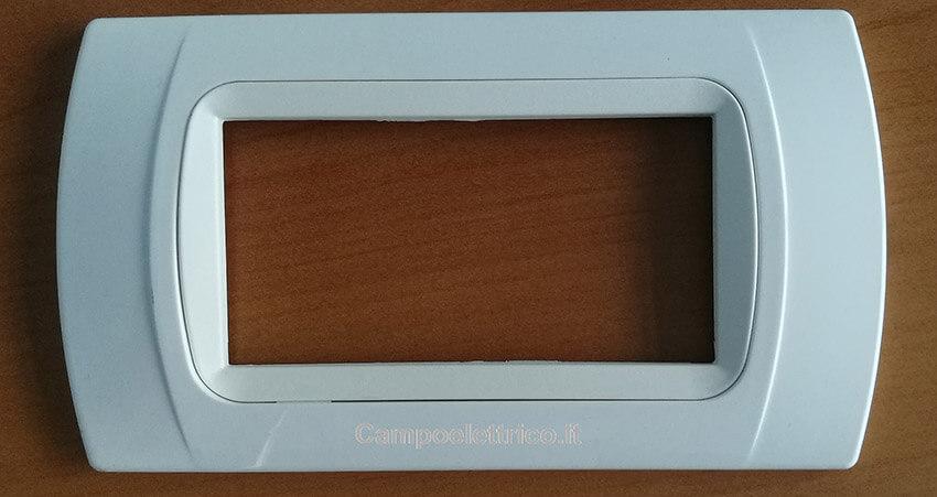 placca compatibile bianca color bianco, miglior prezzo e costo online, vendita serie civile placchette compatibili