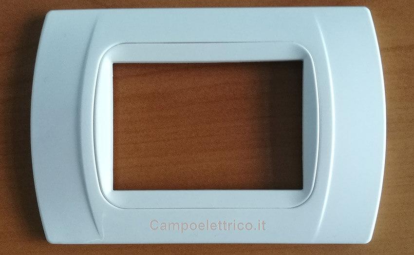 placche compatibili bianche 3 moduli posti, compatibile con biticino matix international living light air, miglior prezzo vendita on line