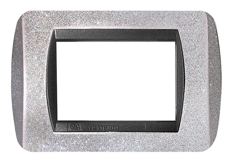placca compatibile living international argento 3 posti moduli prezzo