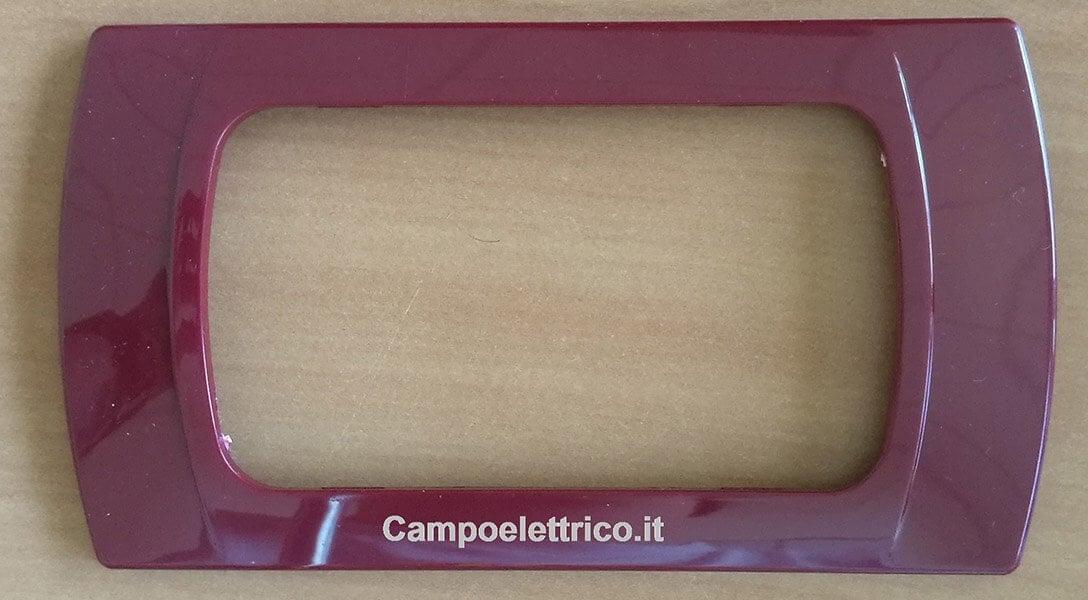 placca per interruttore amaranto rosso compatibile b ticino prezzo offerta
