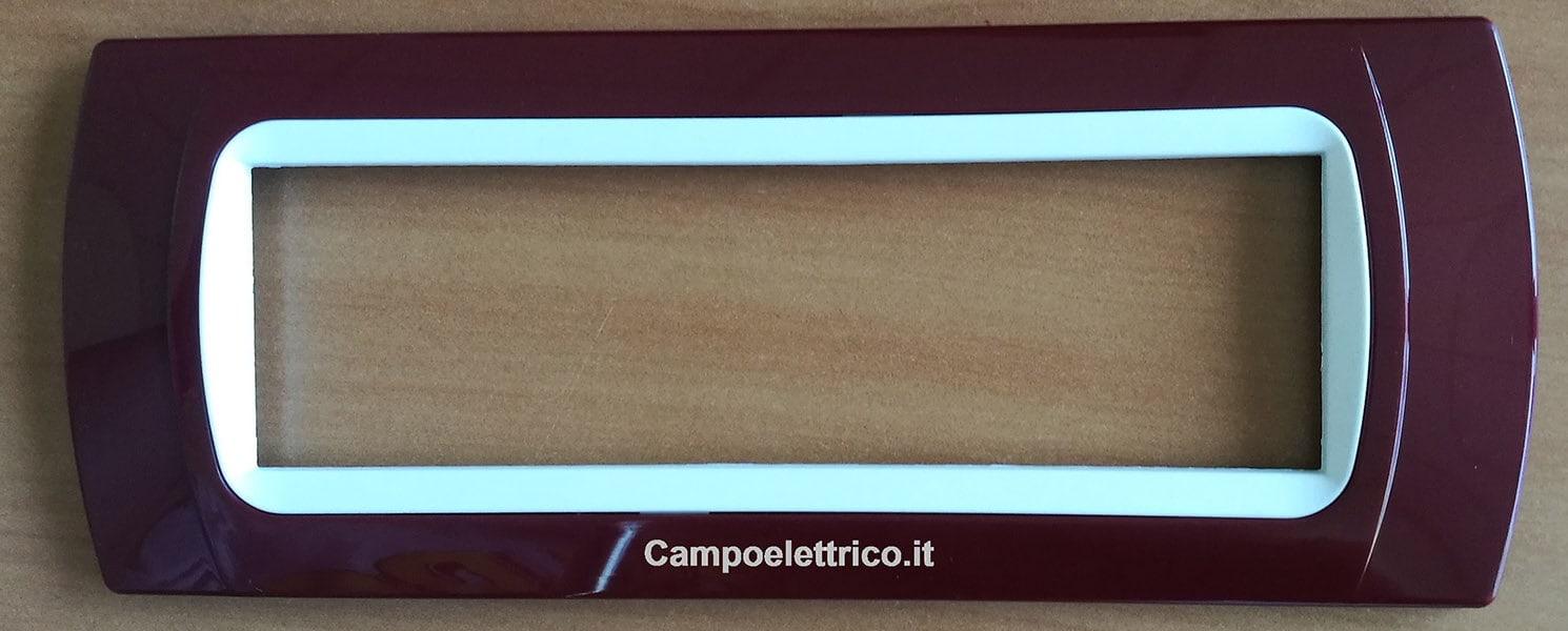 placche compatibili bticino 7 posti rosse amaranto on line web
