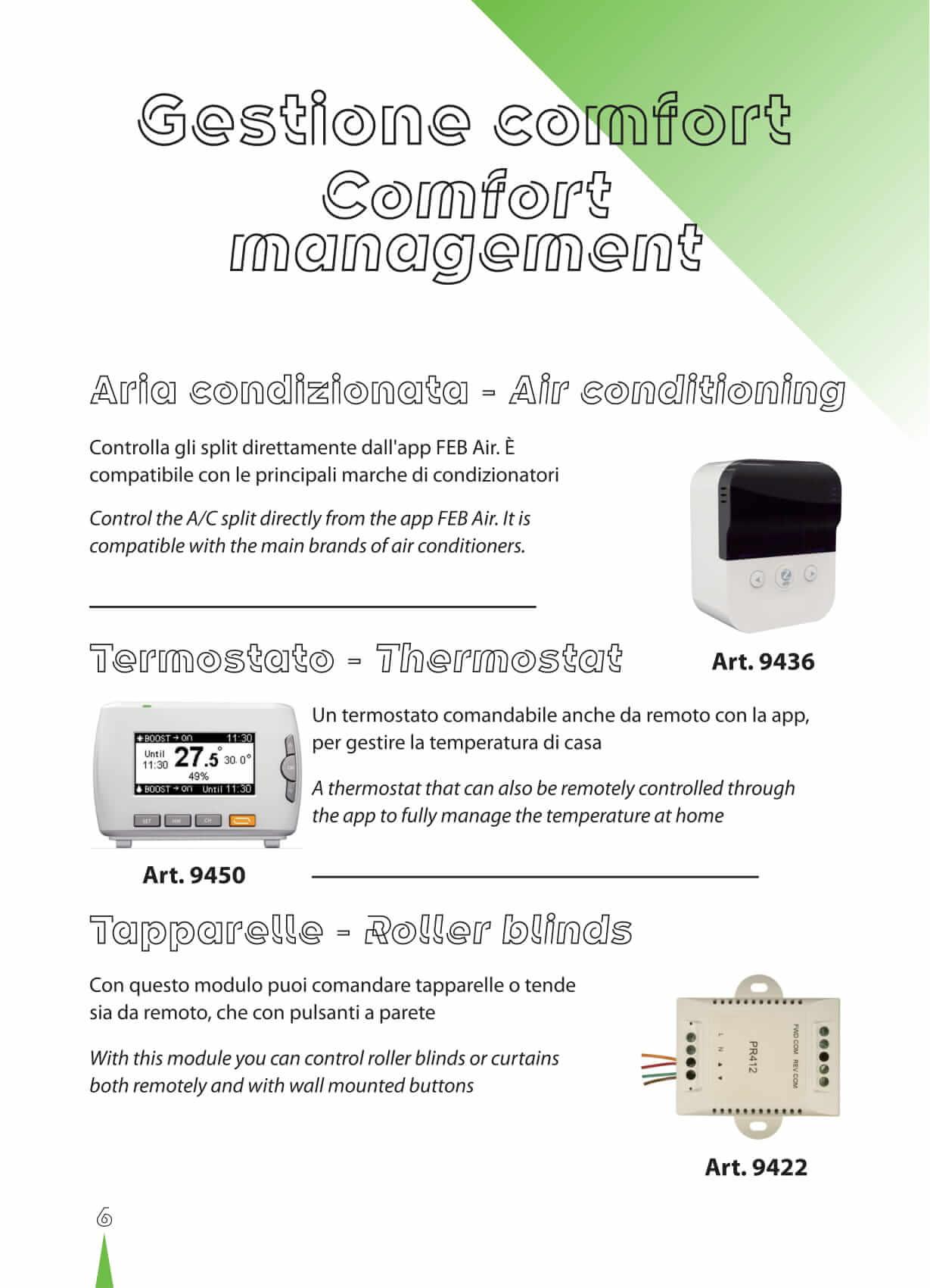 climatizzatori, condizionatori, termostati cronotermostati controllo da domotica casa wifi