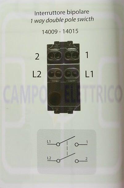 Simboli Schema Elettrico Unifilare : Interruttore bipolare unipolare: cosè schema collegamento