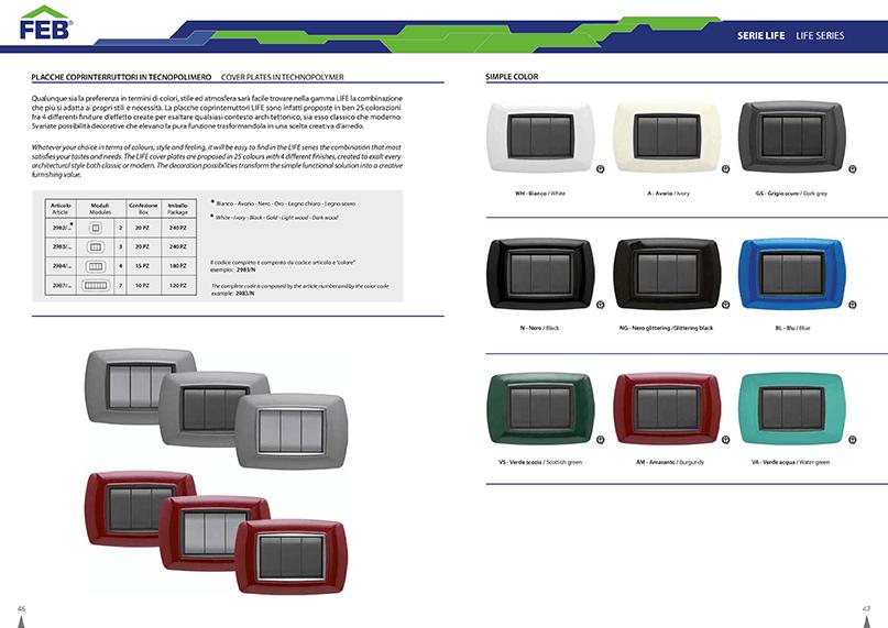 Placche Compatibili Bticino Catalogo