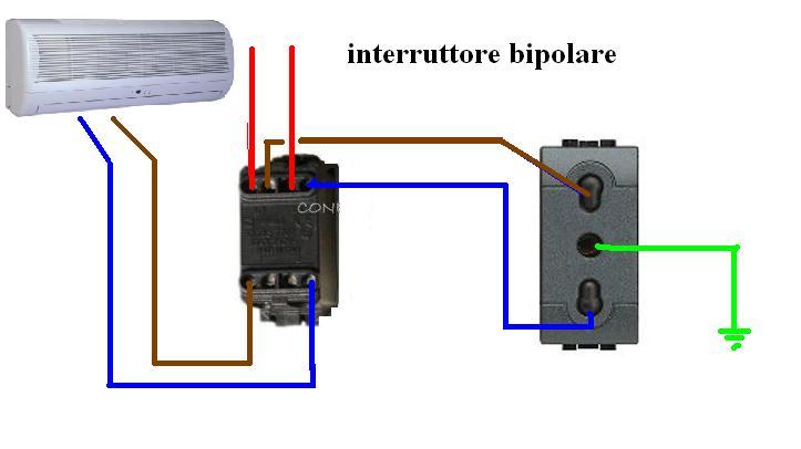 Schema Collegamento Interruttore Luminoso : Interruttore bipolare e unipolare
