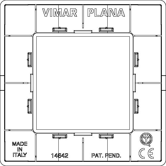 placche vimar plana 14642.01