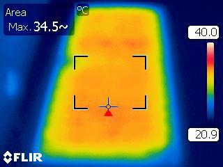 riscaldamento arti inferiori mappa del calore