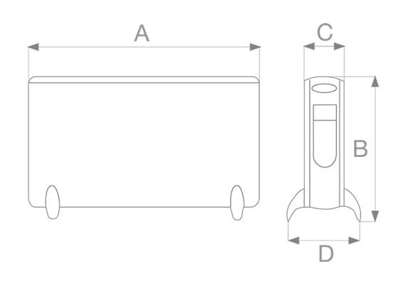 dimensioni e misure modello caldore rt 70221